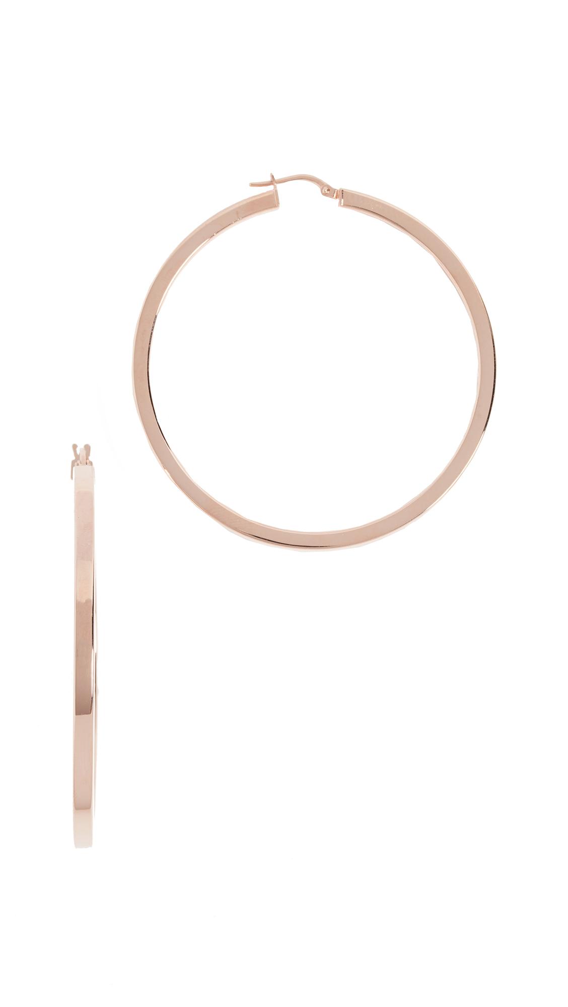 Bronzallure Bamboo Hoop Earrings Z7yHM