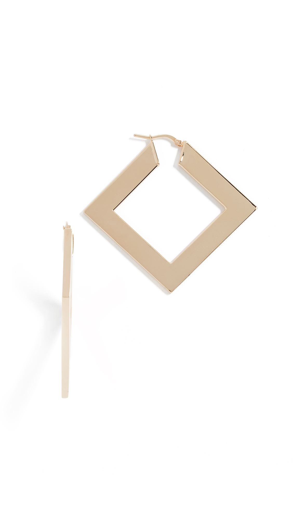 BRONZALLURE THICK SQUARE HOOPS