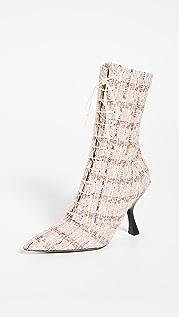 Brock Collection 珠地布金属色系带短靴