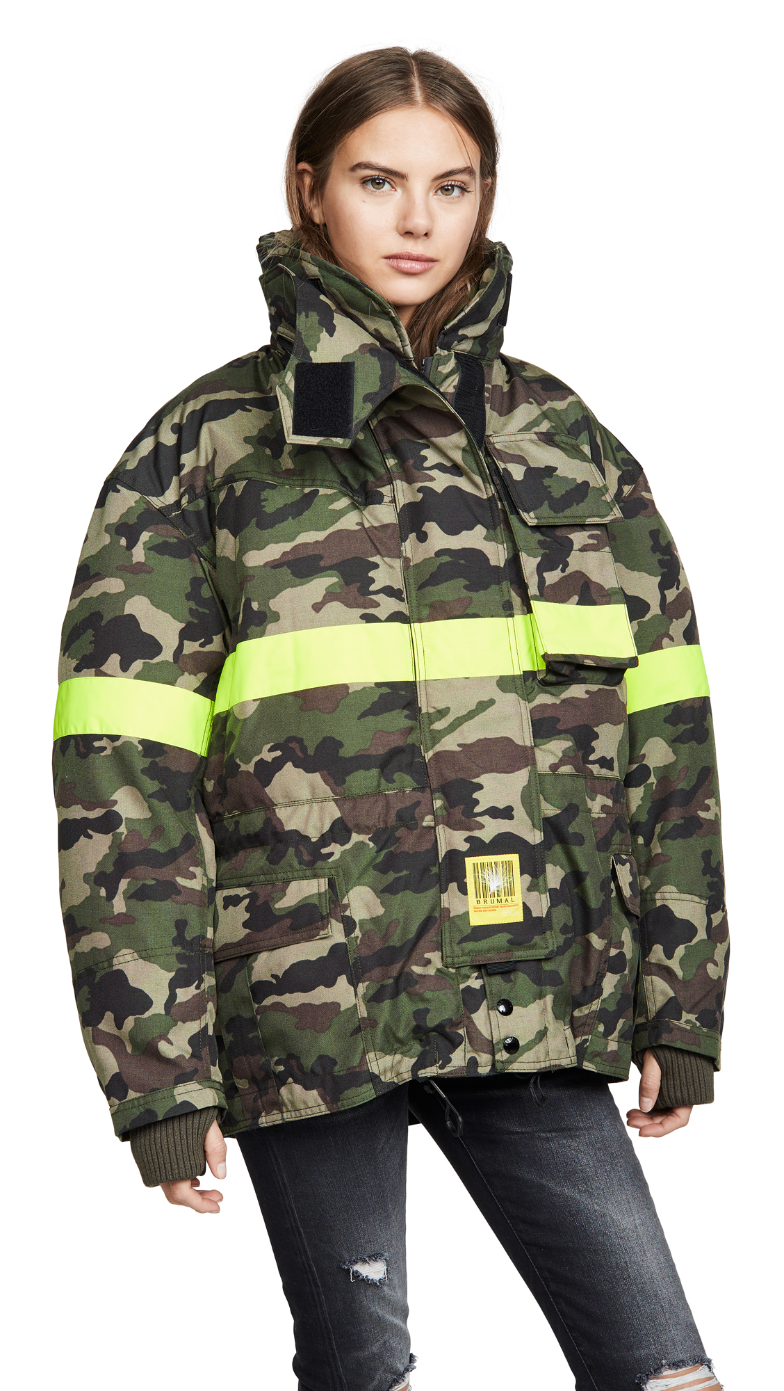 Buy BRUMAL Fireman Down Jacket with Reflective Tape online beautiful BRUMAL Jackets, Coats, Down Jackets