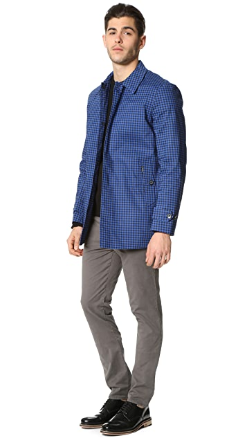 Ben Sherman Gingham Mac Coat