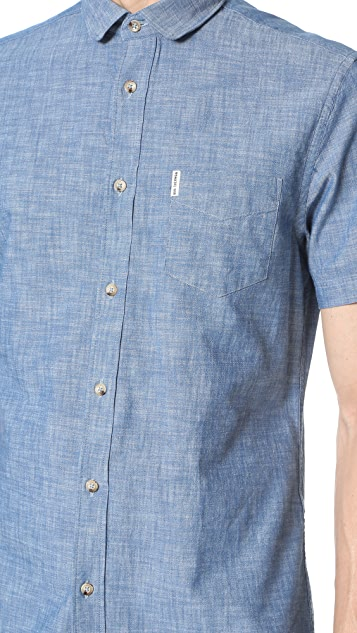 Ben Sherman Short Sleeve Chambray Shirt
