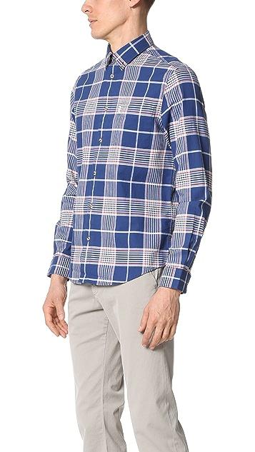 Ben Sherman Plaid Button Down Shirt