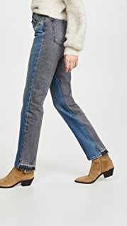 B Sides Arts Mid High Straight Jeans