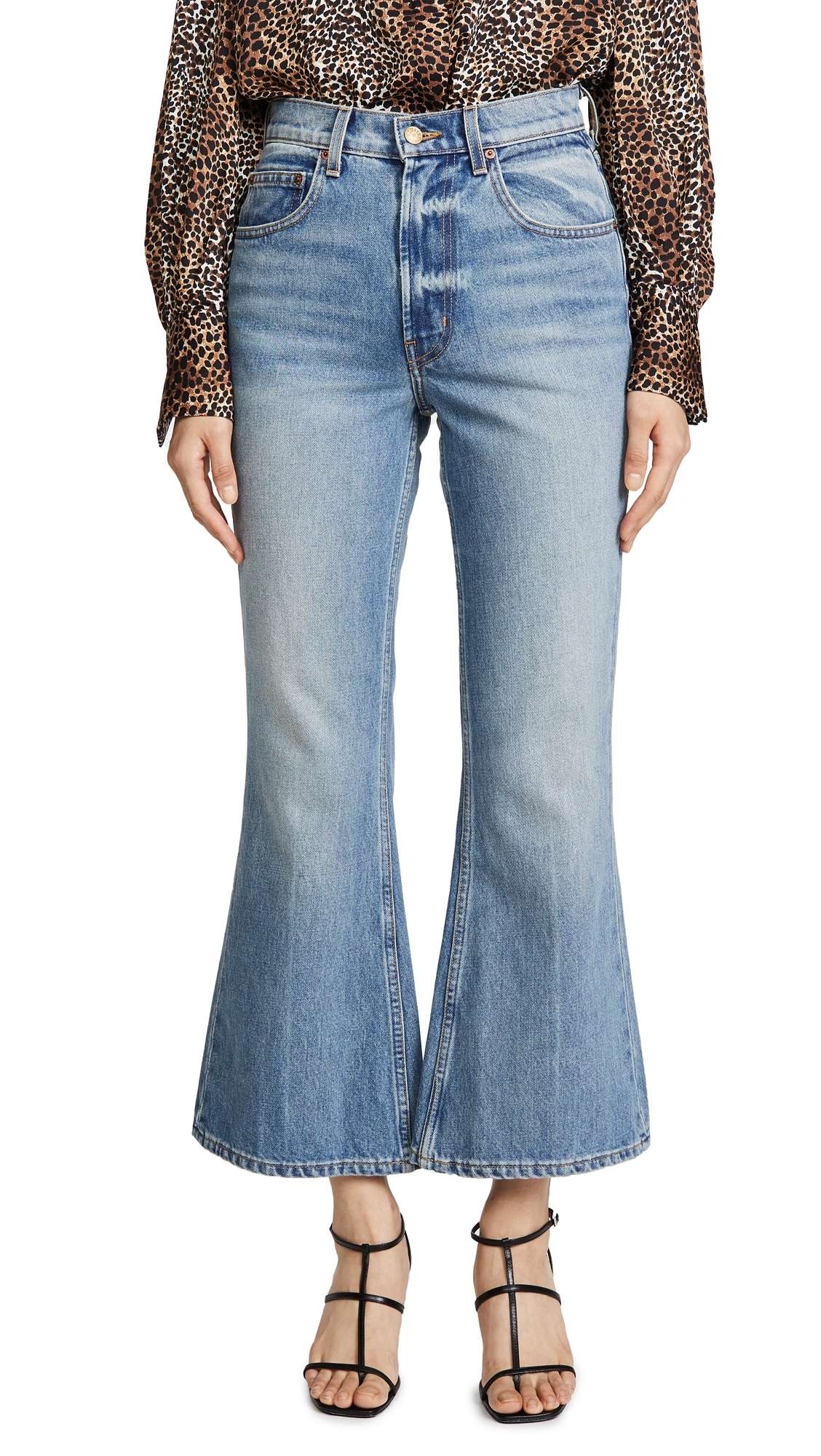 Buy B Sides online - photo of B Sides Leni Crop Flare Jeans