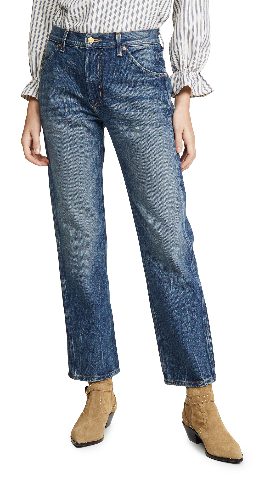 Buy B Sides online - photo of B Sides Georgia Mid High Straight Leg Jeans