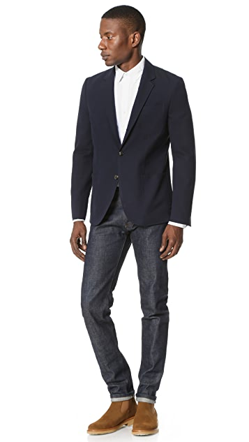 Brooklyn Tailors Cotton Oxford Unstructured Jacket