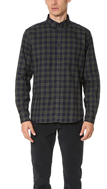 Brooklyn Tailors Structured Flannel Plaid Sport Shirt