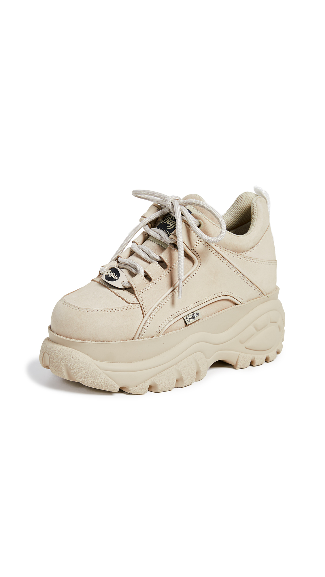 Buffalo London Classic Kicks Sneakers - Cream