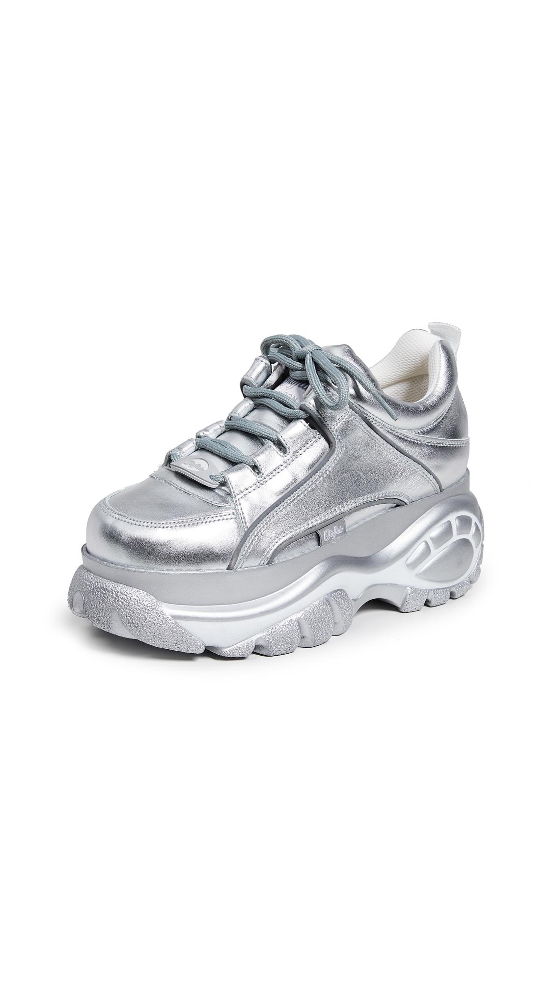 Buffalo London Classic Kicks Sneakers - Silver