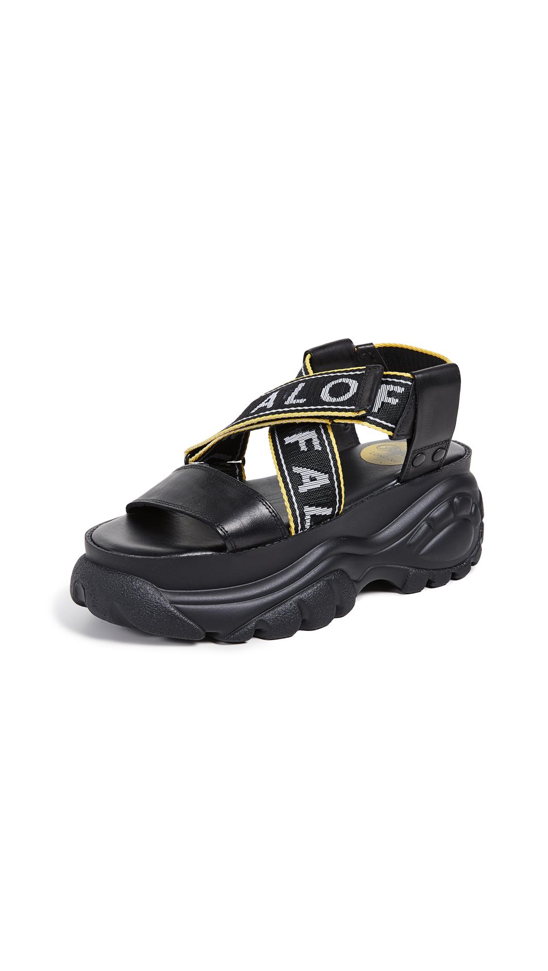 Buffalo London Classic Kicks Bo Sandals - Black
