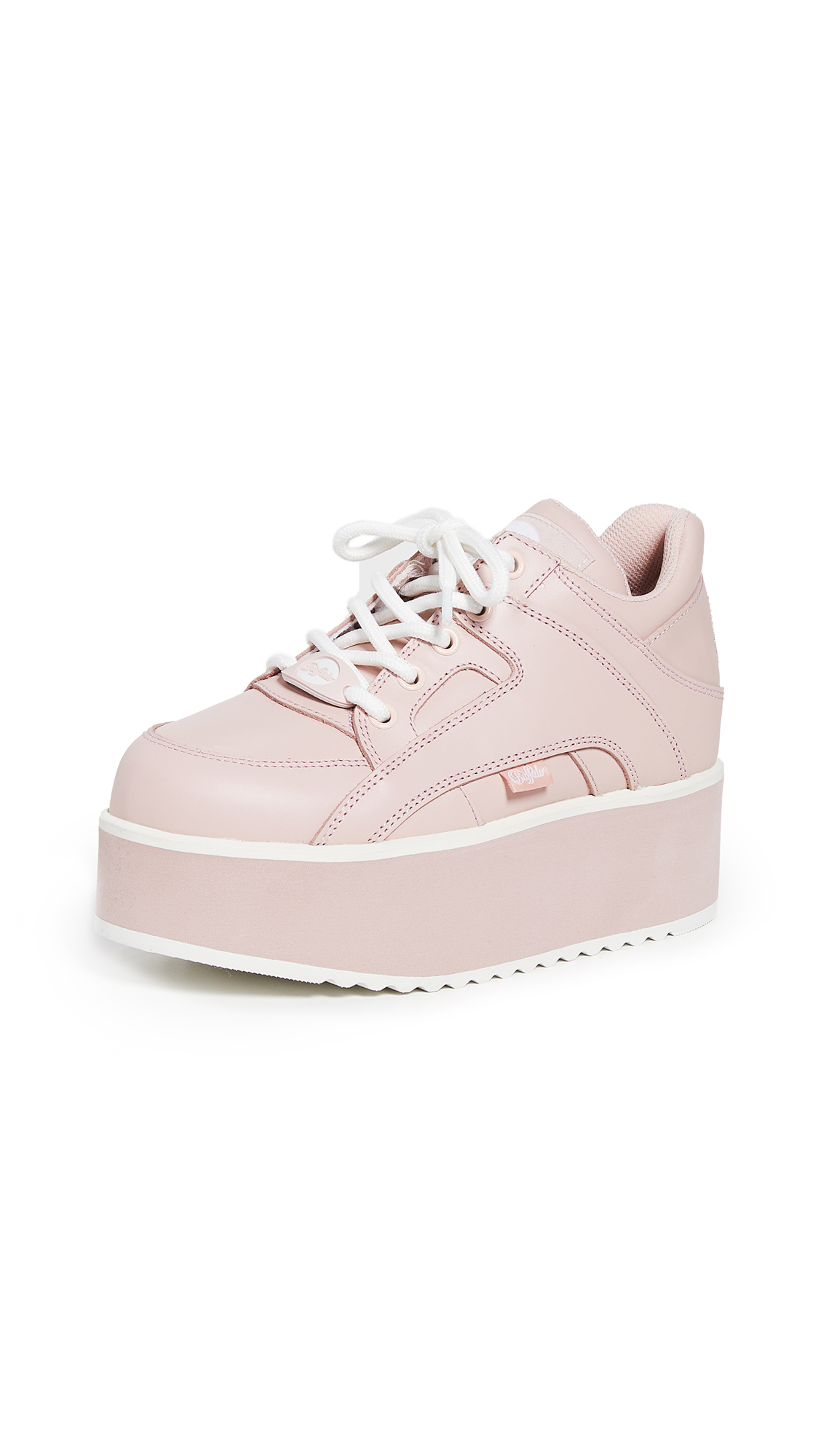 Buffalo London Rising Towers Sneakers - Baby Pink
