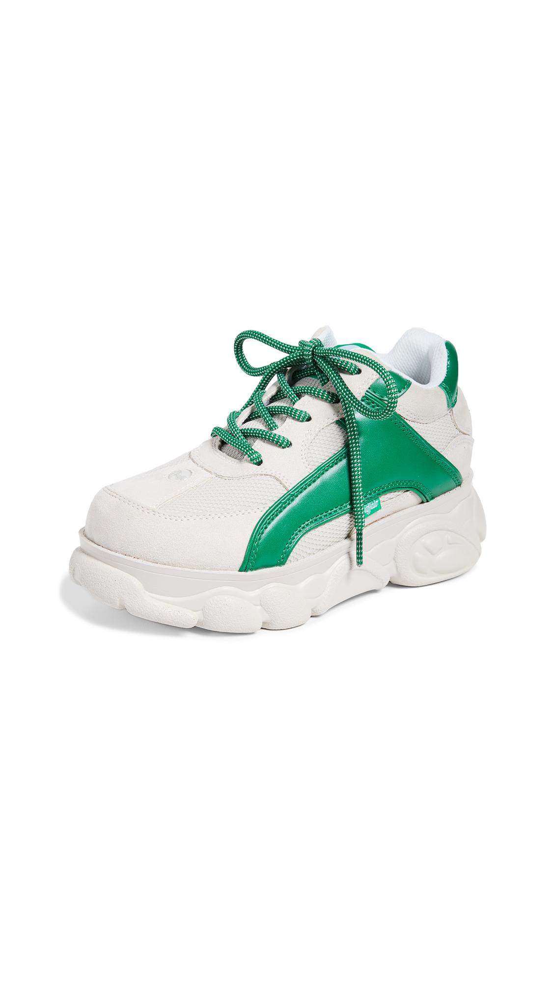 Buffalo London Colby Sneakers - Beige/Green