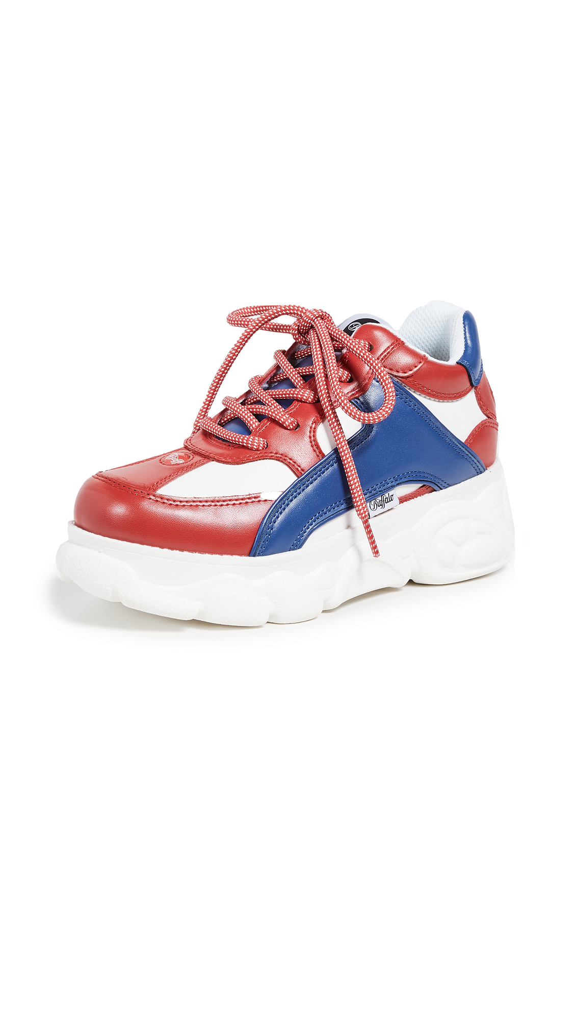 Buffalo London Colby Sneakers - Red/Blue/White