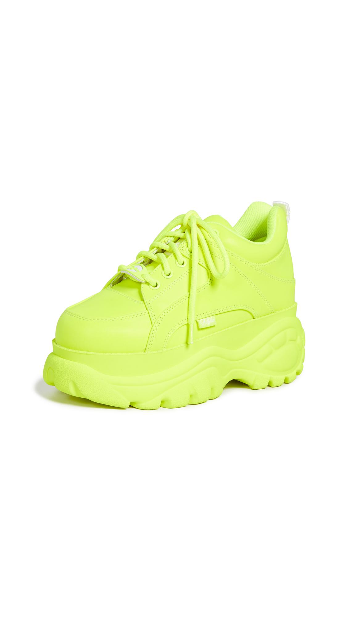 Buffalo London 1337-14 Classic Kicks Sneakers - Neon Yellow