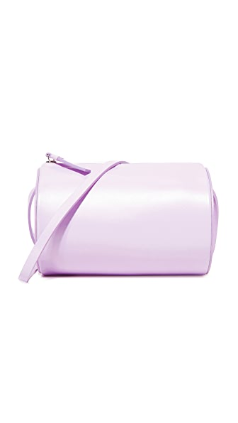 Building Block Cylinder Sling Cross Body Bag - Lilac