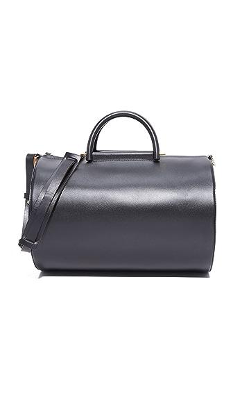 Building Block Cylinder Duffel Bag - Black