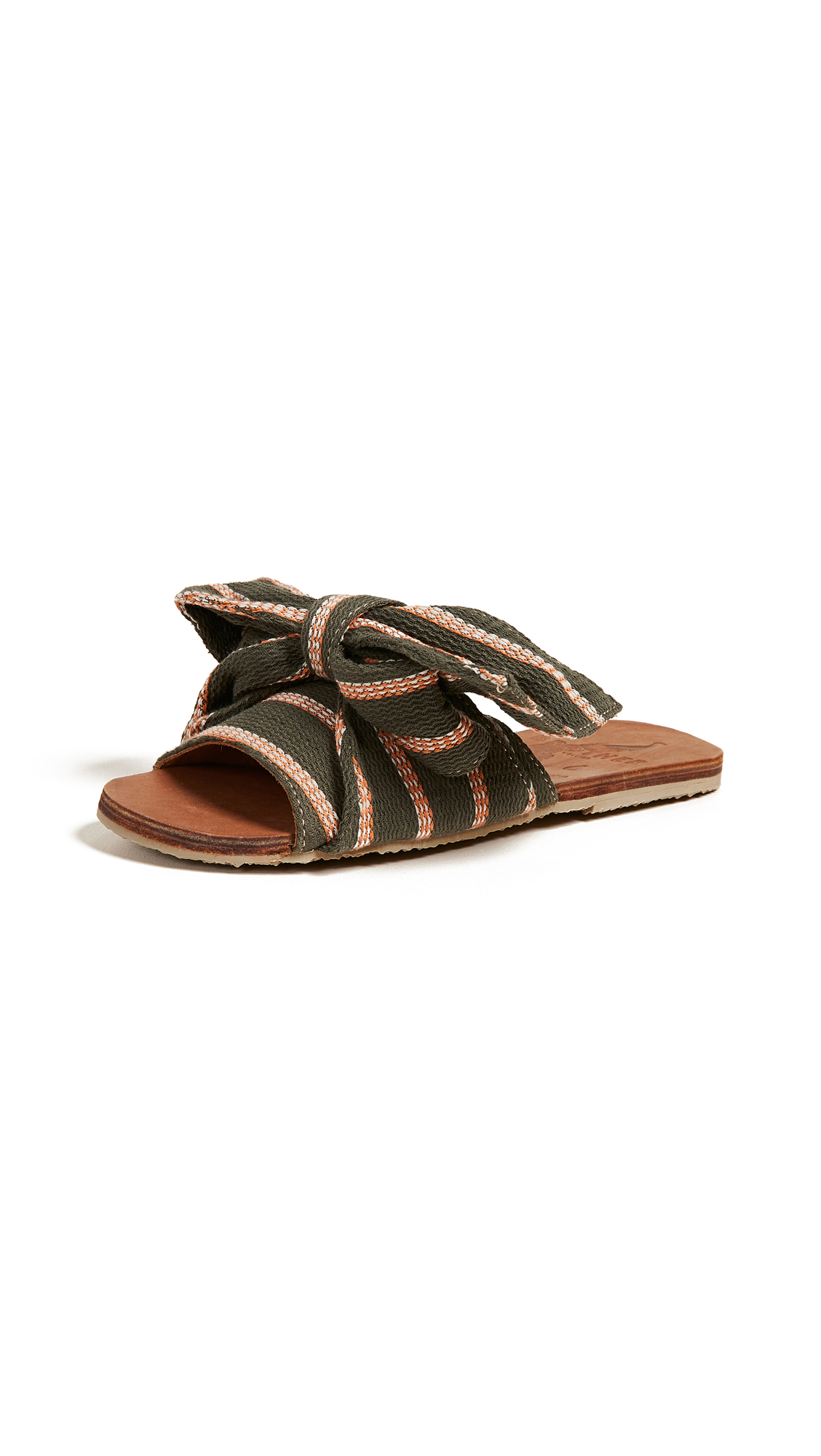 Brother Vellies Burkina Knot Slides - Field Stripe