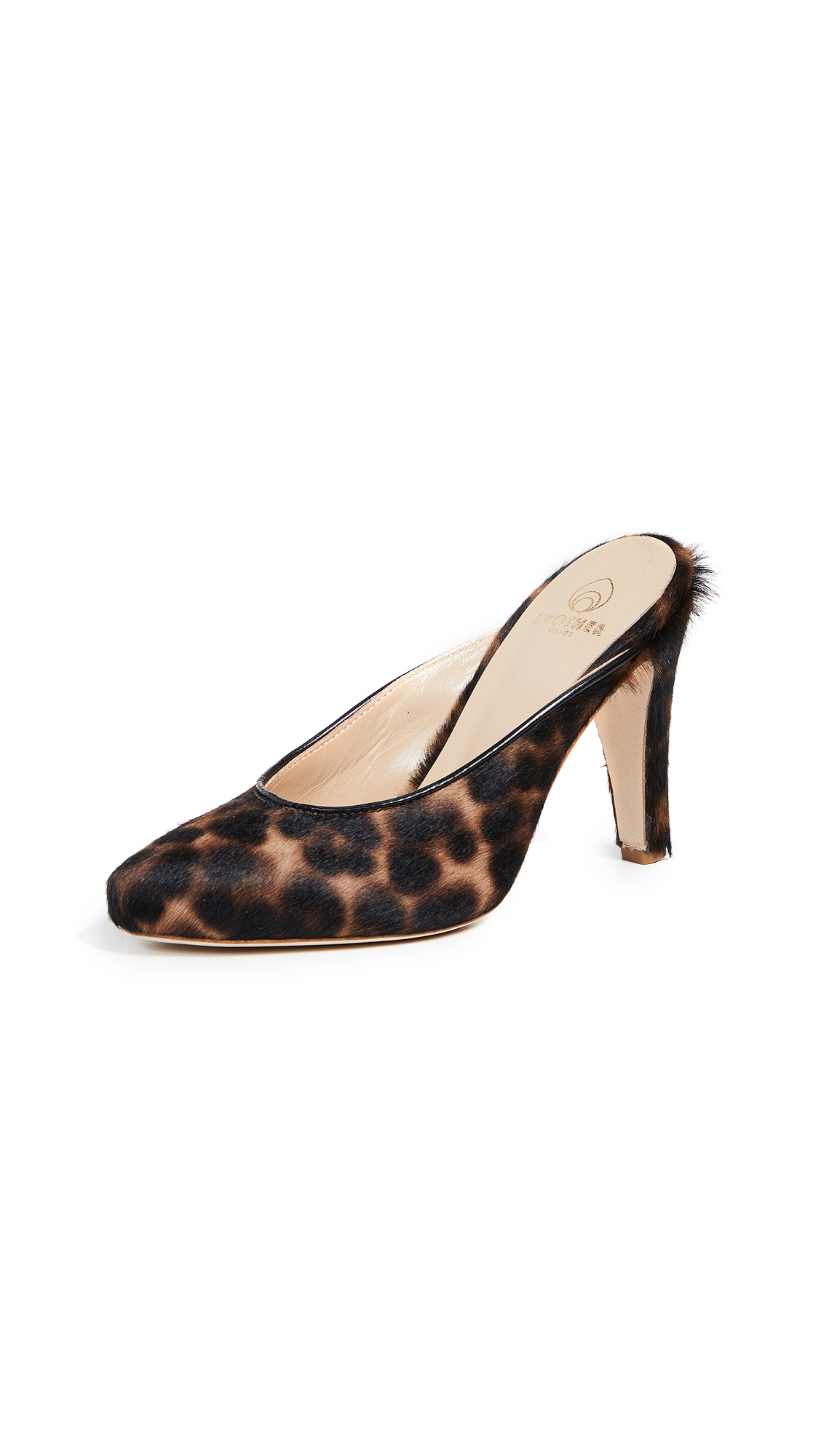 Brother Vellies Holiday Mules - Leopard
