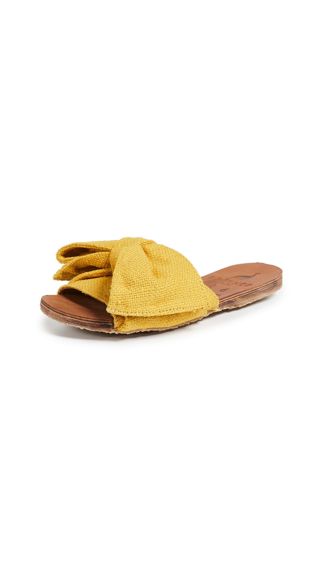 Brother Vellies Burkina Slides - Golden