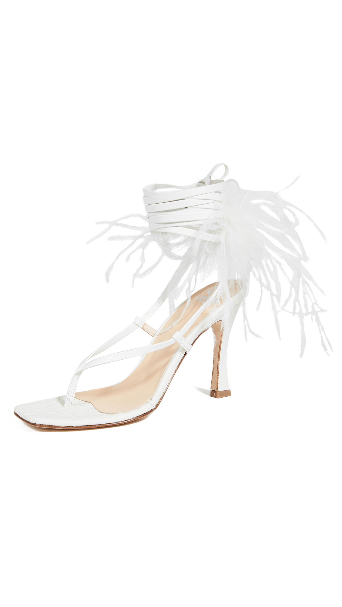 Buy Brother Vellies Paloma Feathered Wrap Sandals online, shop Brother Vellies