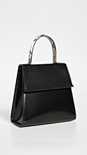 BY FAR Monet Semi Patent Tote