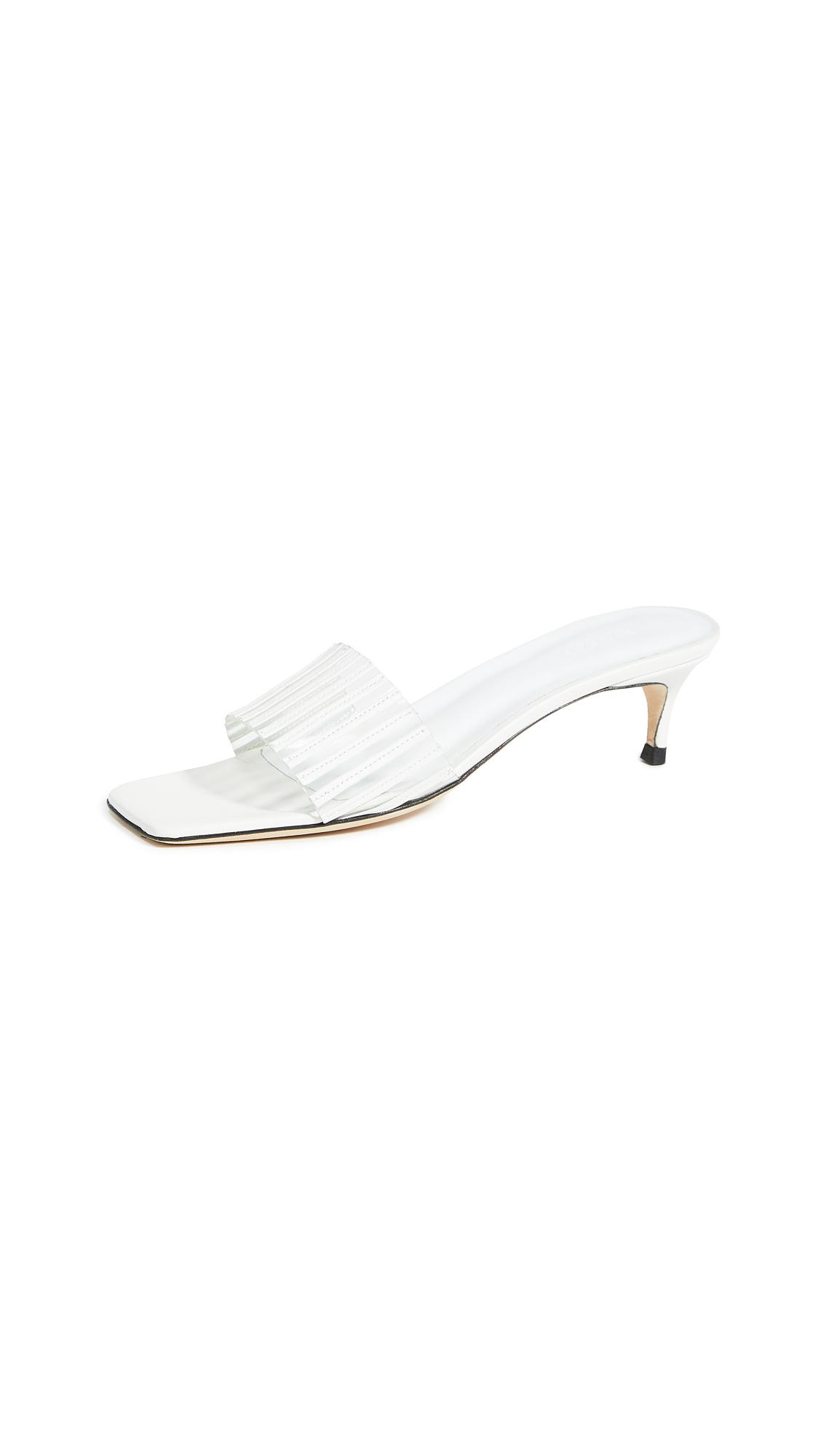 Buy BY FAR Mei Slides online, shop BY FAR