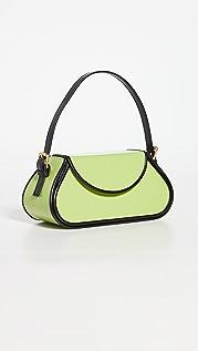 BY FAR Uma Mini Melon Semi Patent Leather Bag
