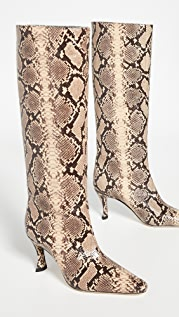 BY FAR Stevie 42 Snake Print Boots