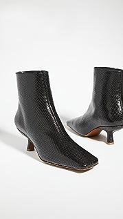 BY FAR Lange 蛇纹印花短靴