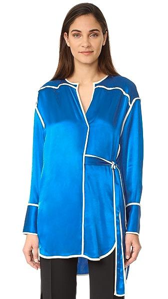 By Malene Birger Samiha Pajama Tunic - Natural Blue