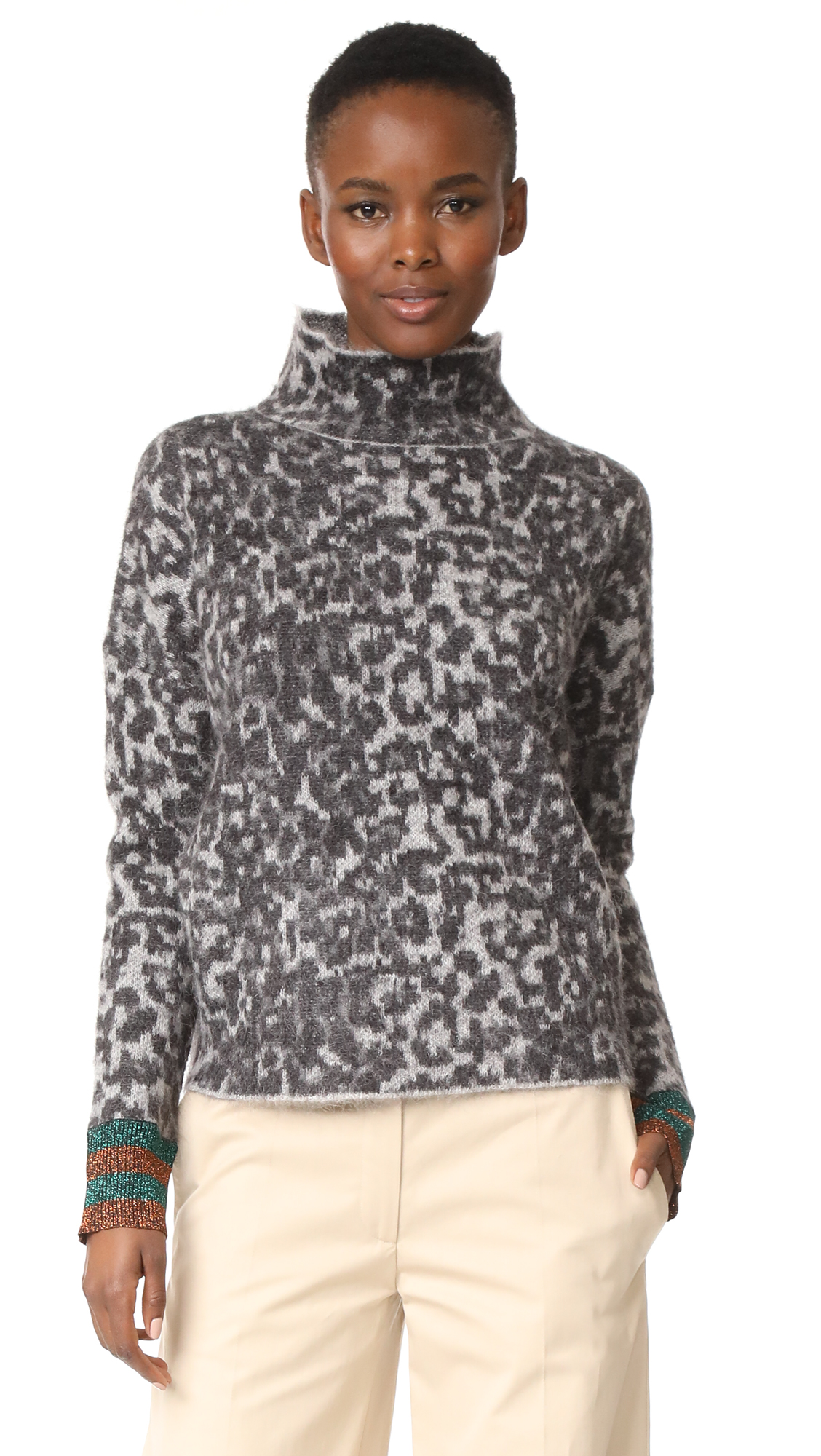 By Malene Birger Bingoe Sweater - Dark Grey Melange