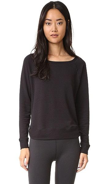 Beyond Yoga Свободный пуловер Kate Spade с длинными рукавами