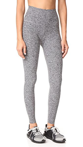 Beyond Yoga High Waist Long Leggings In Black/White Space Dye