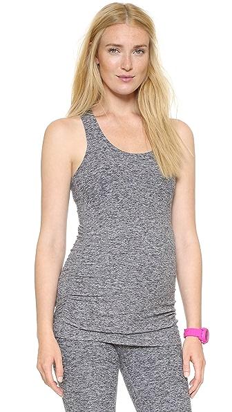 Beyond Yoga Space Dye Performance Maternity Long Cami - Black/White