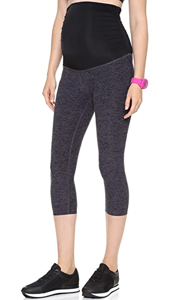 Space Dye Performance Maternity Capri Leggings