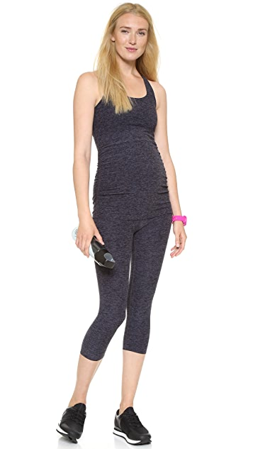 Beyond Yoga Space Dye Performance Maternity Capri Leggings