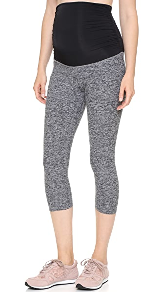 Beyond Yoga Space Dye Performance Maternity Capri Leggings