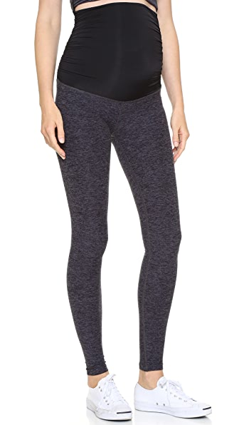 Space Dye Performance Maternity Long Leggings
