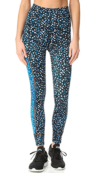 Beyond Yoga Lux Print Ladder Midi Leggings