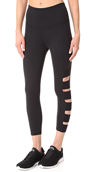Beyond Yoga Wide Band Stacked Capri Leggings - Jet Black