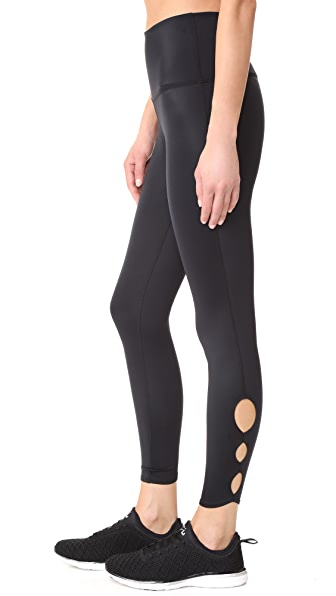 Beyond Yoga Lux Half Moon Midi Leggings - Black