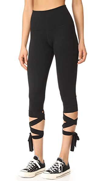 Beyond Yoga Just Your Stripe High Waisted Capri Leggings
