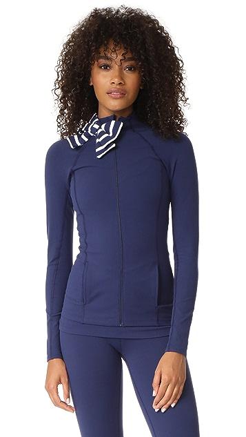 Beyond Yoga Куртка x Kate Spade New York в морскую полоску с бантом на горловине