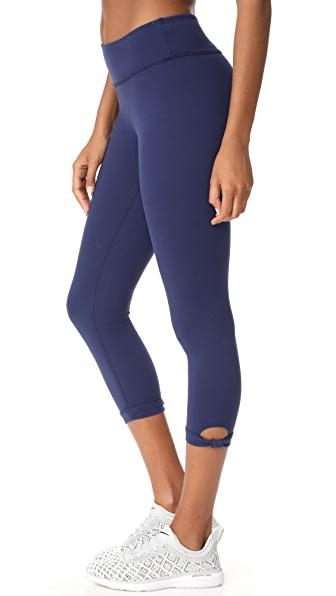 Beyond Yoga x Kate Spade New York Lunar Cutout Leggings - Navy