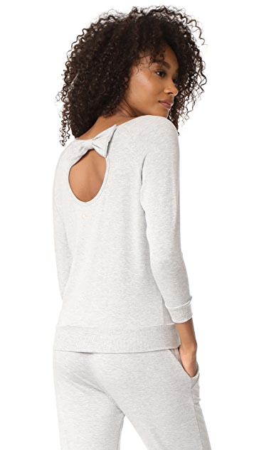 Beyond Yoga x Kate Spade New York Bow Cutout 3/4 Sleeve Sweatshirt
