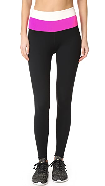 Beyond Yoga Kate Spade New York Leggings - Jet Black/Bougainvillea/Cream