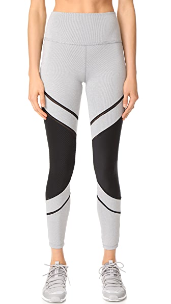 Beyond Yoga Full Disclosure High Waisted Leggings - Grey Pintuck