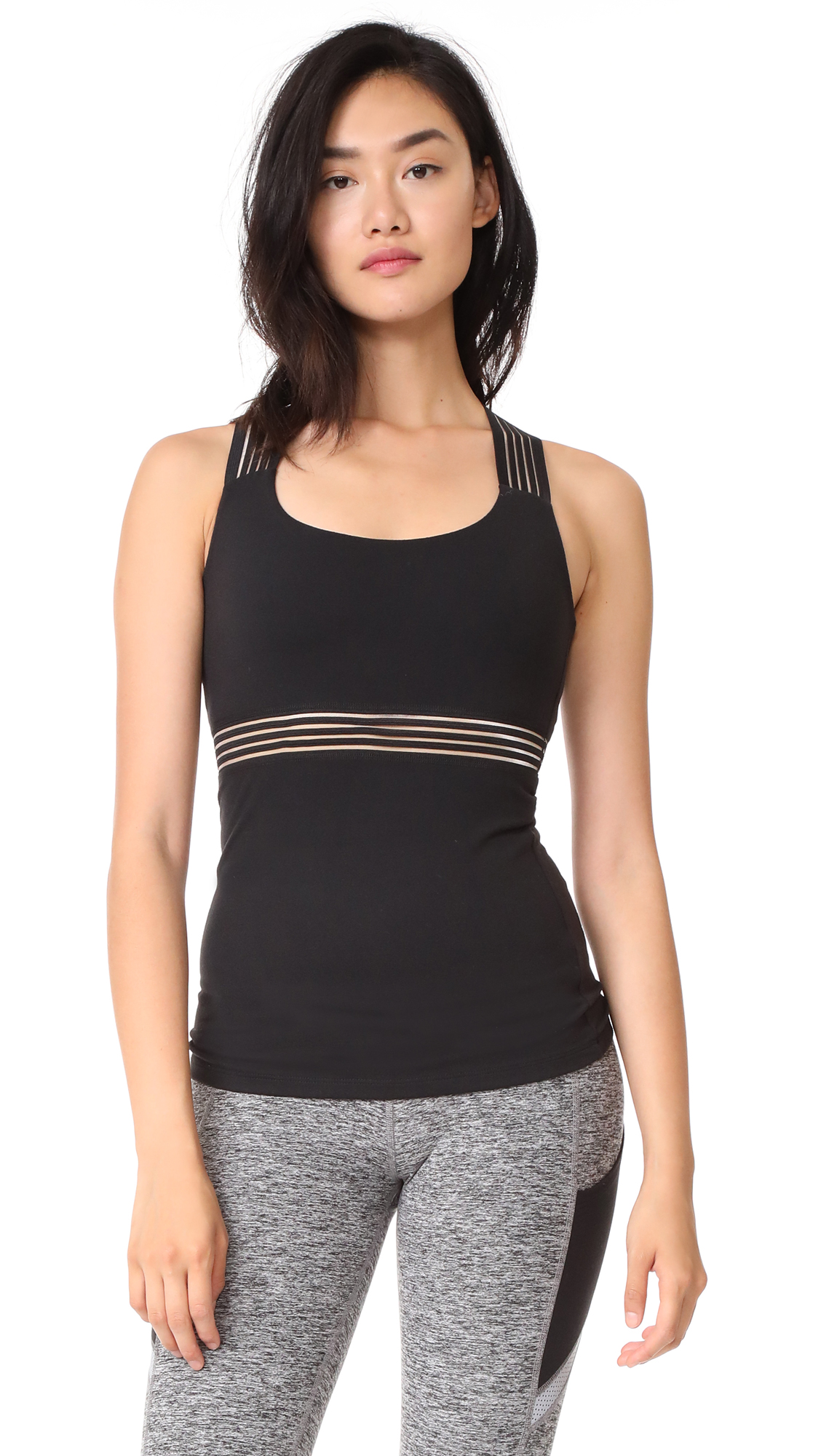 Beyond Yoga Sheer Illusion Tank - Jet Black