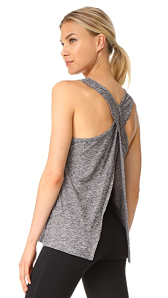 Beyond Yoga Lightweight Crossover Tank - Black/White
